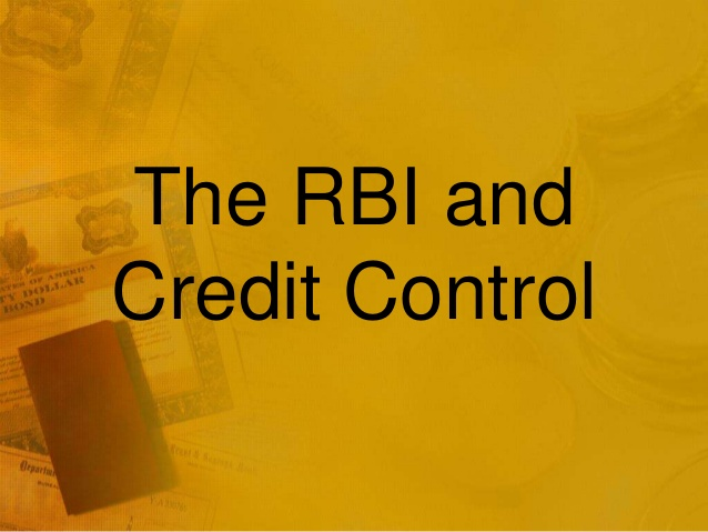 the methods of credit control