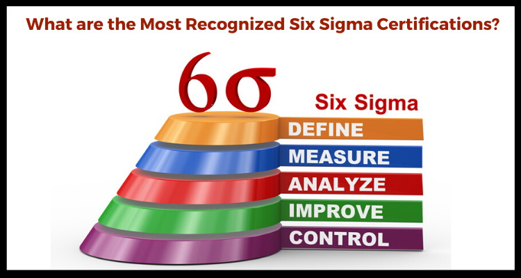What are the Most Recognized Six Sigma Certifications?