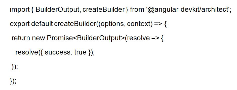 Builder API Angular 8