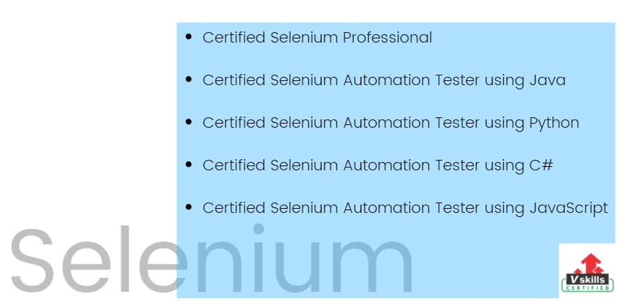 top selenium professional certification