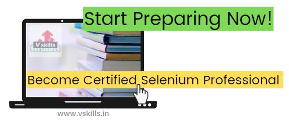 selenium professional certification