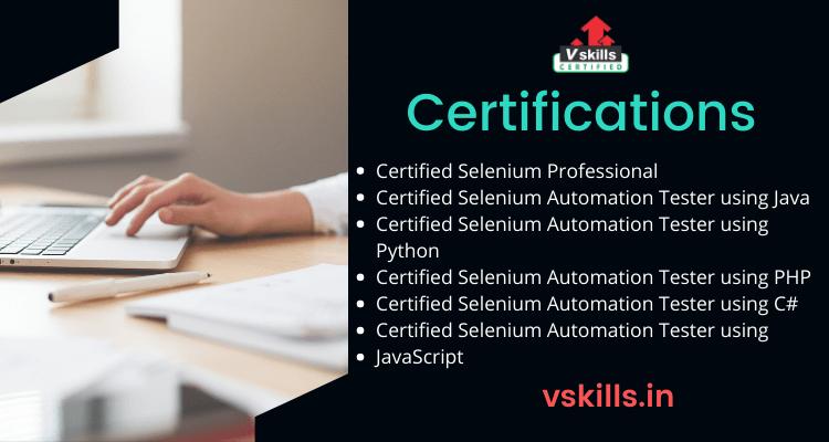 Popular Selenium certifications