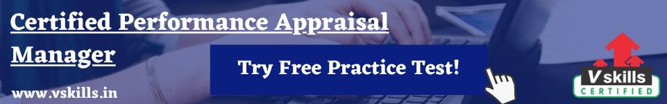 Performance Appraisal free practice test