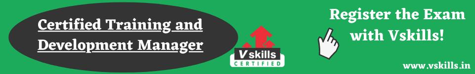 Vskills Training and Development course