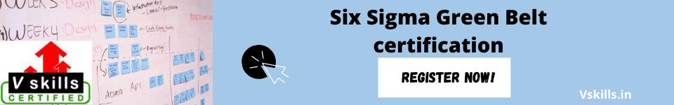 register for the Six Sigma Green Belt certification