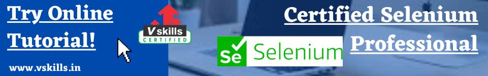 Certified Selenium professional online tutorial