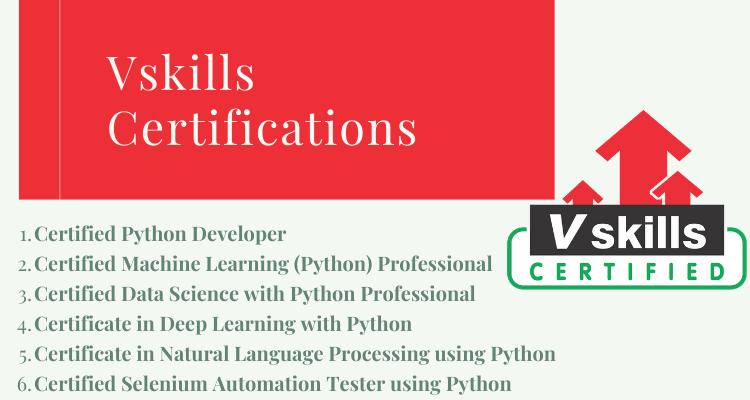 Vskills Certifications to be a great Python Developer
