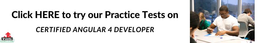 Vskills Certified Angular 4 Developer Practice Tests
