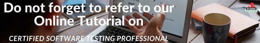 Online Tutorial Software Testing