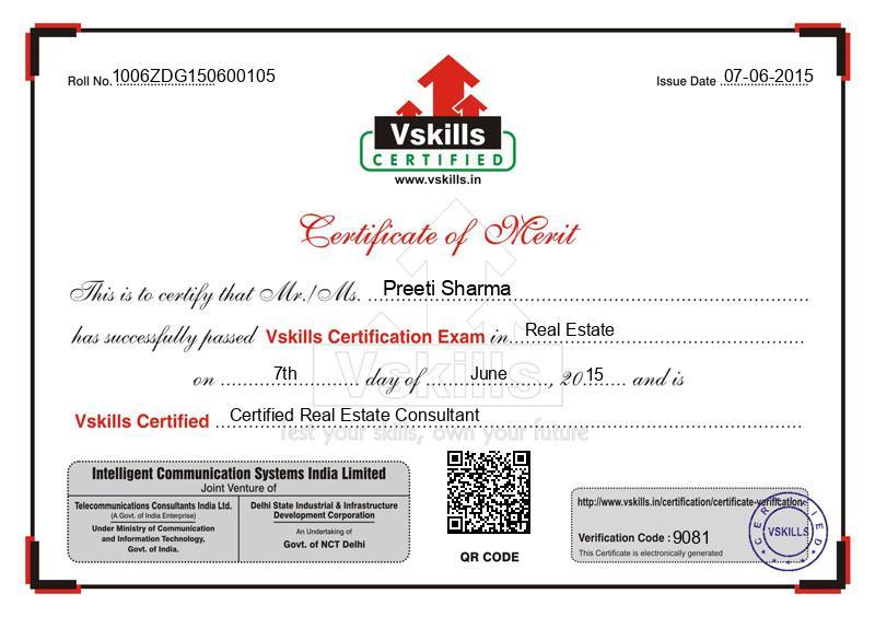 Preeti Sharma - Certified Real Estate Consultant