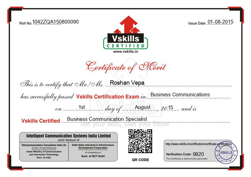 Roshan Vepa Certified Business Communication Specialist