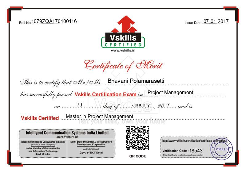 Bhavani Polamarasetti Certified Master In Project Management