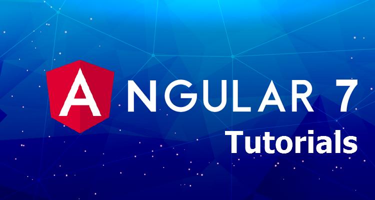 Angular-7-tutorials