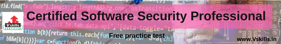 Certified Software Security Professional free practice test