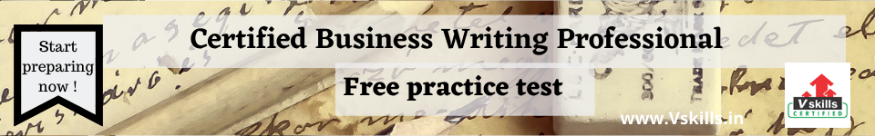 Certified Business Writing Professional free practice test