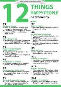 12 things to be happy