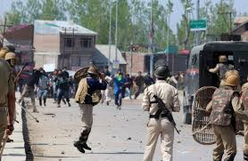 CRPF protests in Kashmir